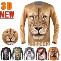 Printing Men Quick Dry T-shirt New 3D T-shirt Autumn New Digital Long Sleeve 3d T shirt Man Free Shipping