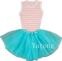 Free Shipping 2014 Newest Girls Ballet Dance Tutu Dresses Baby Girls Tulle Summer Dress Girl Dress Princess Children's Dresses