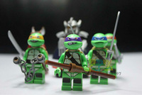 Teenage Mutant Ninja Turtles Building blocks, Tortoise Figure Action Toy New Ninjago Toy Without Original Box Free shipping
