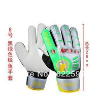 Free shipping Pu latex with finger protection football the wicketkeeper goalkeeper gloves