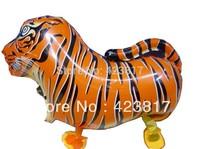 Material Aluminum Balloons Walking Tiger Balloon Balloons for Children