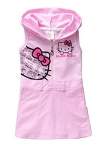 Freeshipping,2013 Factory outlet!!cotton children dress Hello kitty girls sleeveless dress summer baby clothing Retail BBS068