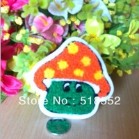 20pcs 9x9cm Sweater decoration mushroom handmade diy cloth applique clothes patch applique clothing line  B209