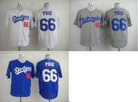 Wholesale-Cheapest Baseball Jersey   #66 Yasiel Puig White Color Free Shipping