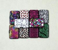 10pcs/lot printed aluminum wallet 10 design leopard zebra dots army aluma credit wallet aluminium card holder case