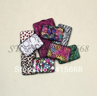 2pcs/lot printed aluminium wallet total 10 DESIGNS, leopard zebra dots army designs aluma credit wallet aluminum wallet