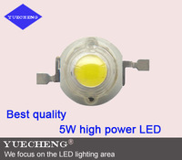 5W high power led lamp beads with double chip free shipping