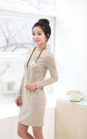 spring and autumn women's OL outfit long-sleeve slim one-piece dress pencil