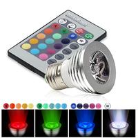 3W RGB LED BULB E27 lamp holder 16-mode White LED Bulb with IR Remote E27 3W RGB 16