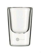 6pics/lot,85ml  double wall glass shot glass coffee cup  S04,wholesales,factory supply directly