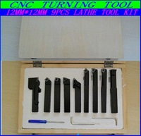 most Free fast shipping Hard Alloy 9PCS /12MM Turning tool kits ,Lathe tool kits cutter