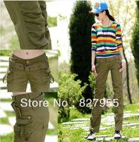 Pants Overalls With A Belt Fashion Autumn And Summer 100% Cotton Sports Trousers For Women