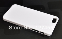 Free Shipping!Sale 3 styles DIY Hard PC Blank White Flat Case for iphone 5