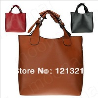 Free shipping New brand Vintage  Women Handbag PU Leather Tote Shoulder Shopper Bag designer hobo handbags  8 Colors  M0810