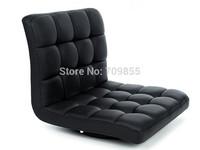 TA38-1   360 degree rotation  seating room meditation chair  Black PU Leather chair  Floor zaisu Chair