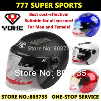 1 pc Motorcycle Helmets Open Face Helmet Yohe YH837  Electrical Scooter Capacete Casco