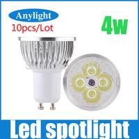 10pcs/lot 4W GU10 230V Warm White/Cold White/white 360LM High Power LED Lamp/Spot Lighting WSP18