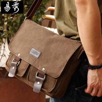 men messenger bags canvas  vintage bag men shoulder bag fashion brown grey wholesale man bag BFK010521