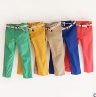 yccz4 new 2014 children pants with belt top quality casual boys pants hot sale 2014 boy clothing free shipping 5pcs/ lot