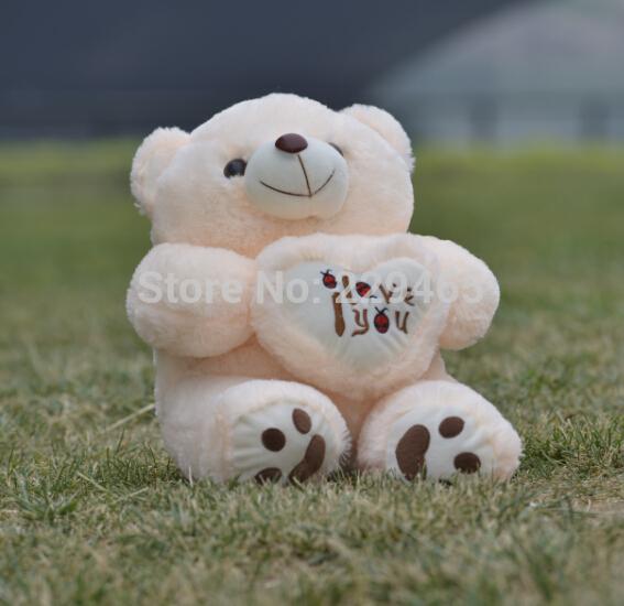 Big Heart Bear hug Beetle Queen plush toy yellow beige bear 48cm kawaii stuffed animals for girls cute play toy bear plush(China (Mainland))