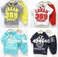Baby Suit 369 sets of price promotion summer clothes children suit fashion retail single sale