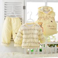 2015 cotton winter newborn carters toddler baby girls boys baby clothing set  3pcs Pattern clothes Sets roupas infantil meninas