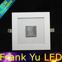 lote FREE SHIPPING-dimmable 15w square led downlight recessed light and lighting luminaire lamp kelvin led lamp in the ceiling