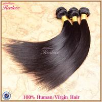 "cheap brazilian hair 3 pcs lot free shipping 8""-30"" Realove Remy Human Hair Extensions soft brazilian virgin hair straight 5a"