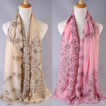 2013 multi element blue and white porcelain leopard print scarf silk scarf cape chiffon autumn and winter SC0321(min order=5usd)