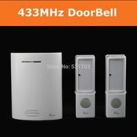 32 melodious Tunes Wireless doorbell door bell with  2 Waterproof entry door bell buttons 1 doorbell chime