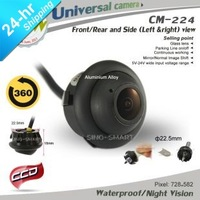 HD CCD 360 deg rotation front rear left right side view parking camera for any car with adjust tool night vision waterproof