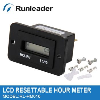 Widely used  Black DIGITAL LCD Hour meter counter  for  ATV  Snowmobile  Boat  Generator AC DC 12V 220V