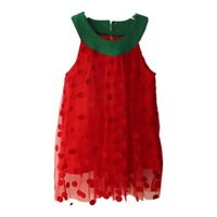 free shipping 1pcs 7~24M baby girls 2014 new fashion cute polka dots girls dresses shij183