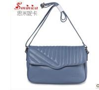 High-grade Women Handbag Genuine Leather Bag Single-shoulder Bag Woman Casual Cowhide Bag Sewing Thread Decoration