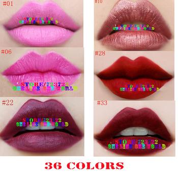12pcs/lot matte lipstick 36 colors velvet high quality lipsticks waterproof lip gloss room colors big discount free shipping