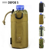 MOLLE system water bottle D-ring holder drawstring pouch purse,Attack Safari Army Durable Travel Hiking US Equipment Wholesale