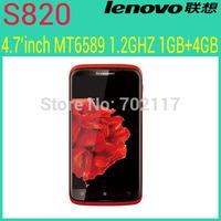 Original Lenovo S820 phone MTK6589 Quad Core Mobile Phone 13mp 4.7'' IPS 1280x720px 1GB RAM Android 4.2 Dual Sim GPS  Russian