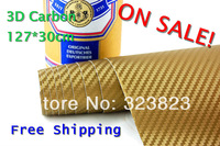 ON SALE 127*30CM 2pc/set 3D Carbon Fiber Vinyl Car Wrapping Foil,Carbon Fiber Car Decoration Sticker,Many Color Option