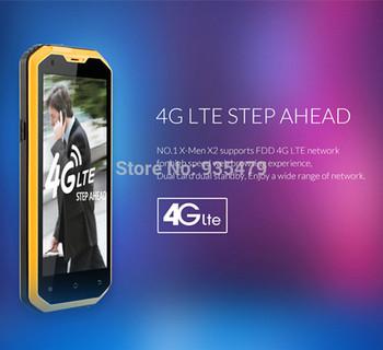 Original No.1 X2 X-Men 4G FDD LTE 5.5 Inch 1GB RAM 8GB ROM IP68 13.0MP 4500Mah battery Waterproof Android 4.4 Cellphones