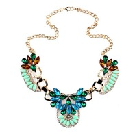 Fashion Unique Exaggerated Luxury Crytal Collar Choker Necklace Statement Necklace  For Women  Free shipping