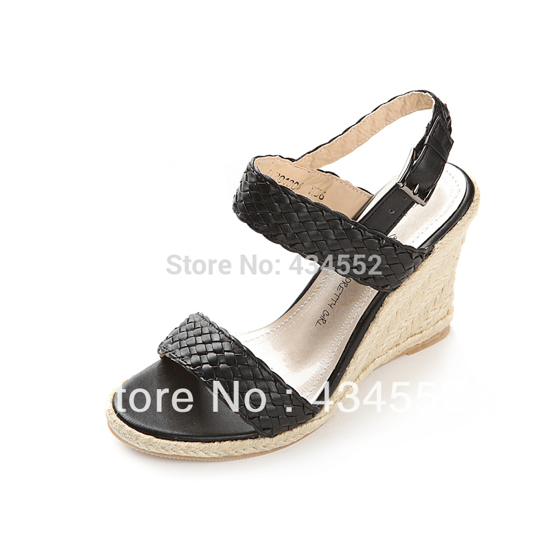 2013 new listing woven wedge sandals sexy high-heeled open-toed sandals, urban women party shoes women sandals high heels(China (Mainland))