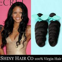 4 Bundles Peruvian Virgin Hair Loose Wave Natural Black 6A Unprocessed Human Hair Weave Peruvian Loose Wave Grace Hair Products