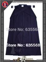 Top Quality 6000# 100% Cotton Shoaizome Navy Blue Kendo Iaido Aikido Hakama Martial Arts Uniform Sportswear Kimono Free Shipping
