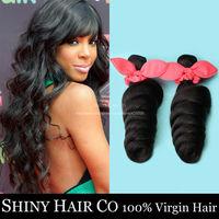 1 Bundle Brazilian Virgin Hair Loose Wave Natural Black 6A Unprocessed Human Hair Weave King Hair Wowigs Virgin Brazilian Hair