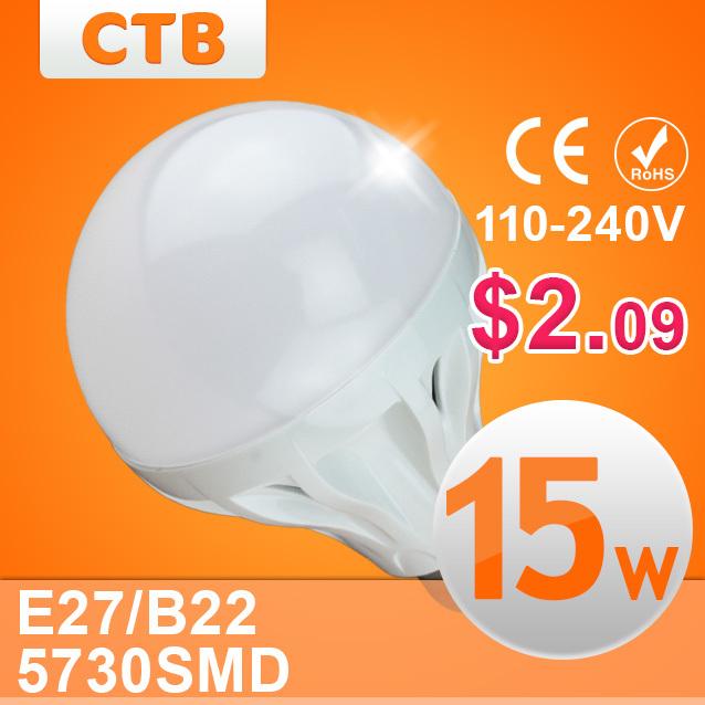 Quality Assurance E27 B22 Led Bulb 3W 5W 7W 9W 10W 12W 15W LED Lamp, 220V Cold Warm White Led Spotlight Lamps Free Shipping(China (Mainland))