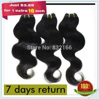 "Muse Hair:Queeing Hair Weave Bundle Peruvian Hair Body Wave 6pcs/lot Color#1b Free Shipping 8""-28""Mixed Lengths Cheap Human Hair"