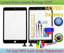 Original quality BLACK-replacement for Ipad MINI 1 ipad MINI 2 digitizer panel touch screen Glass Self-repair KIT Free Shipping(China (Mainland))