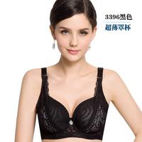 Fat women bra Sexy lace push up bra C cup plus size bra big size cotton black Gauze bra summer intimate brassiere underwear