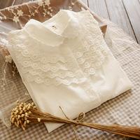 Shirts Women's Long Sleeve Crochet Cotton100% Blouses Camisas Blusa Femininas Casual Ladies Tops Work Shirts Clothing Wear White
