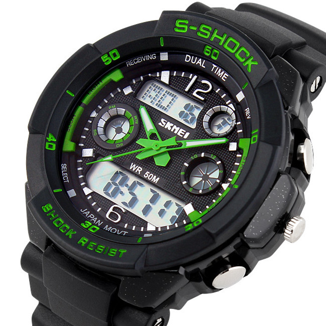 2014 Skmei 0931 Men Sports Military Watches Brand Fashion Casual Wristwatch Men's Digital Watch (Green) Hot Sale(China (Mainland))